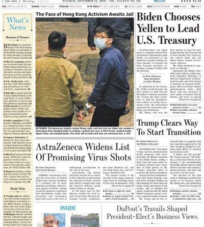 The Wall Street Journal - November 24 , 2020